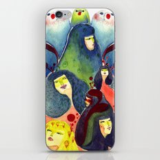 Moss and birds iPhone & iPod Skin