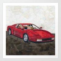 Ferrari Testarossa Art Print