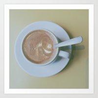 It's always coffee time Art Print