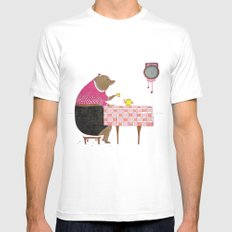 Afternoon tea SMALL White Mens Fitted Tee