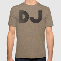 DJ Mens Fitted Tee Tri-Coffee SMALL
