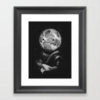 Moonalisa Framed Art Print