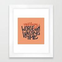 WORSE Framed Art Print