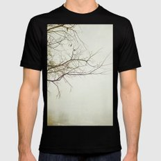 Escaping Into Your World Black SMALL Mens Fitted Tee