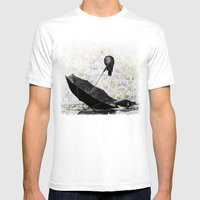 Pigeons Mens Fitted Tee White SMALL