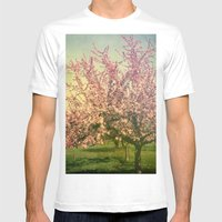 April Mens Fitted Tee White SMALL