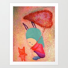 Let me go with you Art Print