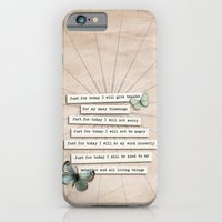 iPhone & iPod Case featuring Reiki Principles No.2 by Karen Johnson