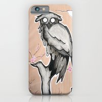 Owl on the branch with a full moon iPhone 6 Slim Case