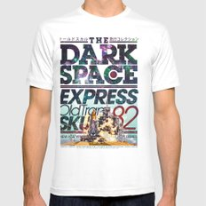 The Dark Space Mens Fitted Tee SMALL White