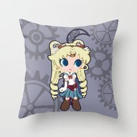 Steampunk Sailor Moon Throw Pillow