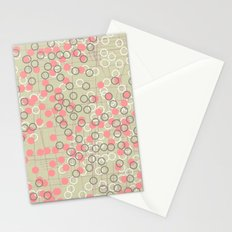 Dots and Rings-Neutral Stationery Cards