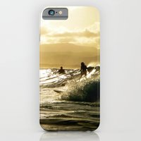iPhone & iPod Case featuring Surf Sunset by Dave Houldershaw
