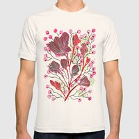 Ruffled Blooms Mens Fitted Tee Natural SMALL