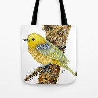 Yellow Warbler Tilly Tote Bag