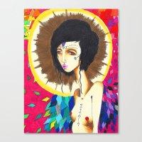 Geometric Madonna  Canvas Print