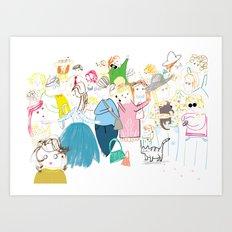 London Crowd Art Print