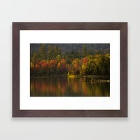 Fall Waters Framed Art Print