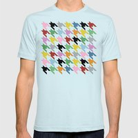 Dogtooth New On Black Mens Fitted Tee Light Blue SMALL