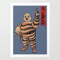 Octopus Michelin Art Print