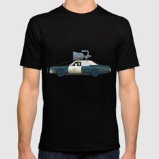 The Blues Brothers Bluesmobile 2/3 Mens Fitted Tee Black SMALL