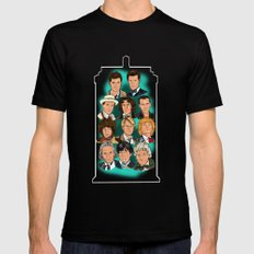The Eleven Doctors Black SMALL Mens Fitted Tee