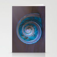 Blue Seashell 2 Stationery Cards