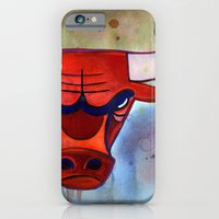 iPhone & iPod Case featuring Chicago Bulls by S.G. DeCarlo