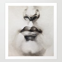 Mouth Study Art Print