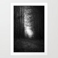 In The Deep Dark Forest.… Art Print