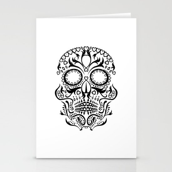 Day of the Dead Skull No.26 Stationery Card