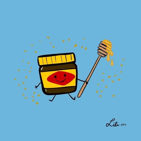 Vegemite Honey Art Print