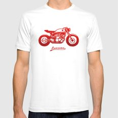 Vintage Bike Mens Fitted Tee White SMALL
