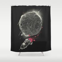 Galactic Mission Shower Curtain
