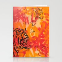 Double Tiger Medley Stationery Cards