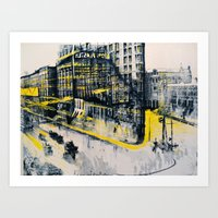 Flatiron Mixed Media Art Print