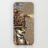 iPhone Cases featuring The Projectionist (sepia option) by Eric Fan