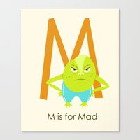 M is for Mad Canvas Print
