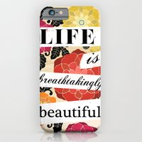 iPhone & iPod Case featuring Life is Breathtakingly Beautiful by petite stitches