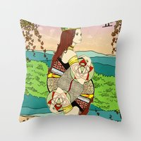The Queen (Twins) Throw Pillow