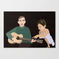 Guitar kids Canvas Print