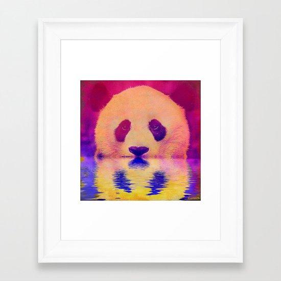 Pink Panda Framed Art Print