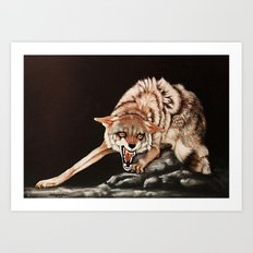 Don't Mess  With Me! painting Art Print