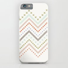 Mixed Zig Zag - in Mint Slim Case iPhone 6s