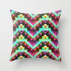 Aztec Mountain Throw Pillow