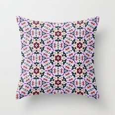 Kaleidoscope Flowers  Throw Pillow