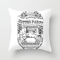 Mattes Party Throw Pillow