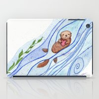 Sea Otter In Love iPad Case