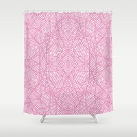 Ab Lace Pink Shower Curtain