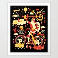 Crazy Lithuania Art Print